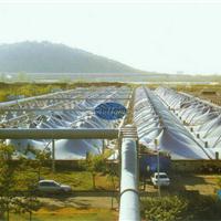 污水池钢支撑反吊UV光固化膜|废气收集密封