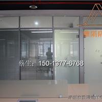 深圳双层玻璃带百叶间隔墙