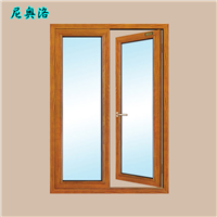 NOL70铝包木内室门 阳台隔音铝包木平开门