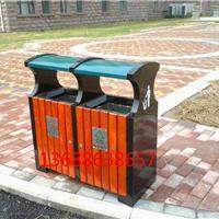 供应淄博户外金属分类钢木果皮箱