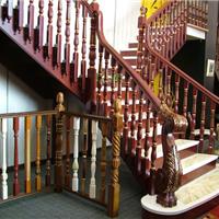 供应实木楼梯 中柱旋转楼梯玻璃围栏