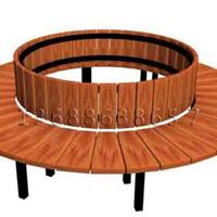 供应济南户外山樟木圆形围树椅,定做生产