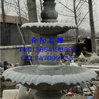 厂家直销嘉祥景观石雕喷泉、黄锈石喷泉水钵