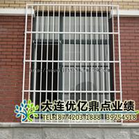 大连开发区白钢玻璃门防盗窗护栏-优亿装饰