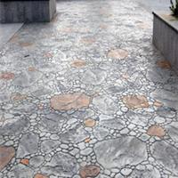 扬州人行道彩色混凝土压膜地坪