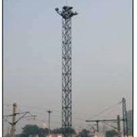 供应21.5米照明灯塔 GFL角钢避雷塔
