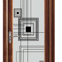 双玻钢化的铝合金平开卫生间门
