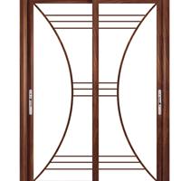 45度角的推拉门-90度角普通吊趟门