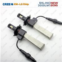 无风扇LED汽车大灯H4 LED雾灯/LED头灯