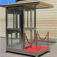 原厂直销钢结构玻璃岗亭,全玻璃岗亭