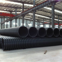 厂家直供:HDPE双壁波纹管、中空壁缠绕管等