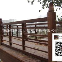供应青岛防腐木栏杆木栅栏围栏
