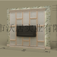 沃居简中式背景墙图