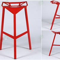 供应红宝餐桌复古长方形实木铁艺餐桌椅
