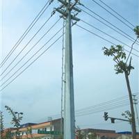 供应金属钢管杆 10KV双回路终端电力杆价格