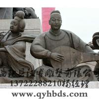 供应古代人物雕塑,音乐主题,玻璃钢雕塑