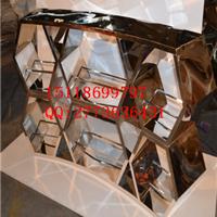 供应大堂异型立体效果玫瑰金不锈钢活动隔断
