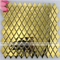 供应304菱形不锈钢马赛克装潢墙面