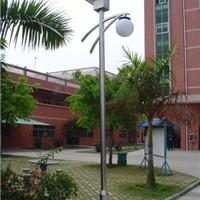 山东隆昌灯饰供应3-4.5m太阳能庭院灯