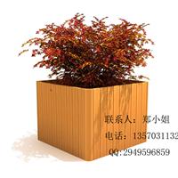 供应马路木制花箱、学校景观花箱、户外花盆