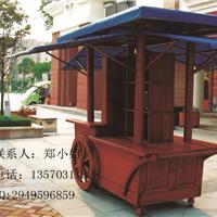 供应户外木制售货车商业广场花车