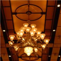 复式楼客厅大吊灯旋转别墅现代水晶长吊灯