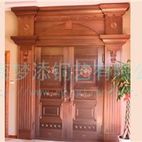 供应高档紫铜旋转大门铜门庭院防盗