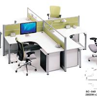 办公家具厂直销屏风卡位,1.2米办公桌定制