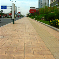 亚石供应咸阳市政道路* 彩色水泥压模地坪