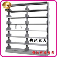 钢制图书架|全钢制书架|单柱双面书架