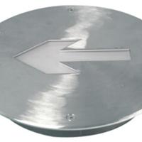 供应敏华电工有边全不锈钢面板小圆形地埋灯