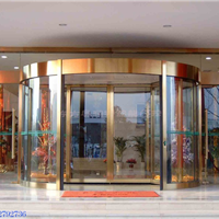 销售安装酒店自动门 酒店旋转门 酒店造形门