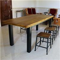 供应咖啡厅星巴克铁艺实木桌椅创意实木桌椅