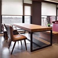 供应长方形实木铁艺餐桌椅办公桌咖啡桌餐