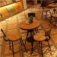 供应客厅铁艺茶桌户外木茶几客厅创意茶桌