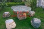供应靠背椅 方形石桌椅生产厂家