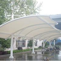 [宣城膜结构车棚]白色车棚-PVDF膜布车棚