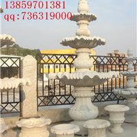 供应石雕喷泉  黄秀石喷水池 水钵