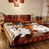 供应西部牛仔家具实木床