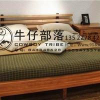 西部牛仔家具实木床,家具定制,实木床定制