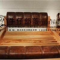 供应西部牛仔实木,红胡桃实木床,家具定制