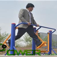 室外健身器材两种不同的安装形式