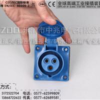 直通柜防水暗装母座ZZ313 16A 蓝色 IP44