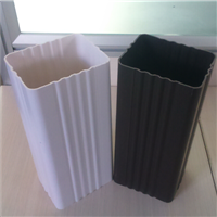 供应赤城县方形雨水管PVC成品檐槽 天沟