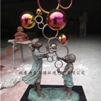 七彩不锈钢雕塑,金属雕塑制作
