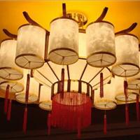 现代中式吊灯 洒楼包厢布艺吊灯定制