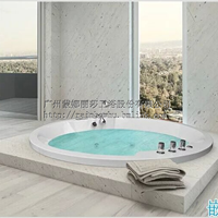 酒店豪华圆形浴缸水疗亚克力按摩冲浪浴缸