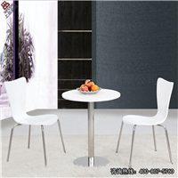 供应餐厅桌椅,白色全套桌椅组合CT618