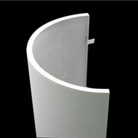 弧形包柱铝单板 墙面装饰弧形铝单板幕墙