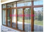 高档木铝门窗生产厂家批发铝木复合门窗价格